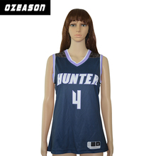 OEM stoff 100% polyester customized college frauen <span class=keywords><strong>basketball</strong></span> jersey