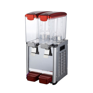 CE 2015 dual tank 2.4 Gal refrigeration drink juice dispenser for sale