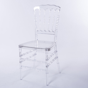Clear wholesale resin napoleon wedding transparent chair