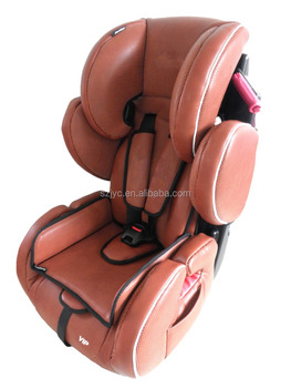 Luxury Leather High Quality ECE E1 Certificate Baby Car Seat Child Safety Product 9