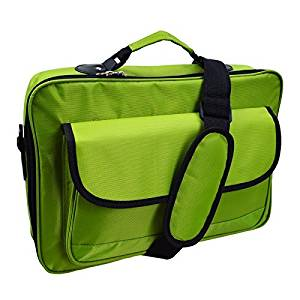 "Lotsaveoutlet 10.1"" 11.6"" 12.5"" 13.3"" 14"" Inch Green Laptop Bag Case Notebook Bag Case For Apple Macbook Macbook Air Macbook Pro Retina HP IBM Dell Latitude XPS Acer Alienware Sony Ultrabook XL Laptop Notebook Classic Series compartment Studio Slim Foam Carrying Messenger Bag Sleeve 1680D Case"