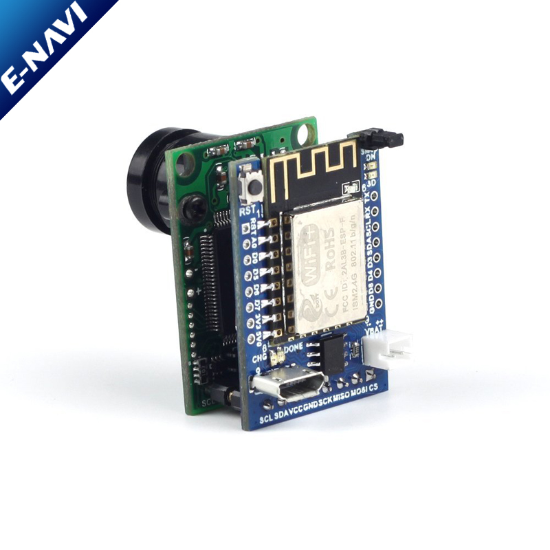 2MP Camera Shield Evaluation Kit with Mini Camera Shield with OV2640 2 Megapixels Lens and ESP8266 Nano V2 Board