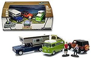 Greenlight 1:64 Motor World Campsite Cruiser Set 3 Vehicles