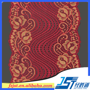 2017 red lace trim decorative bridal lace trim stretch cheap lace trim