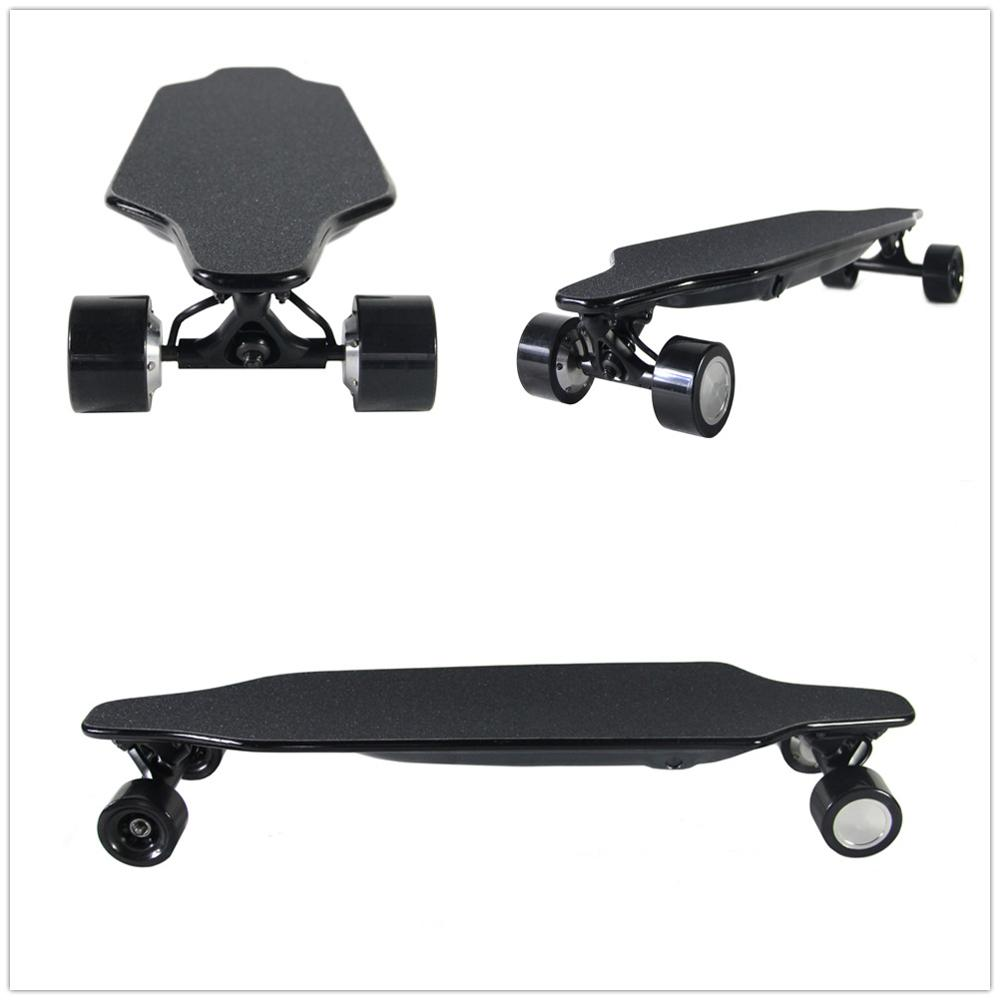 factory customize 2.4G remote control fiber glass material electric skateboard brushless motor durable PU wheel