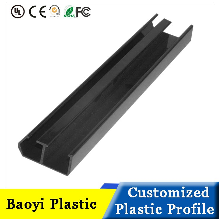 Plastic U shaped Edge Strip PVC Extrusion Profile