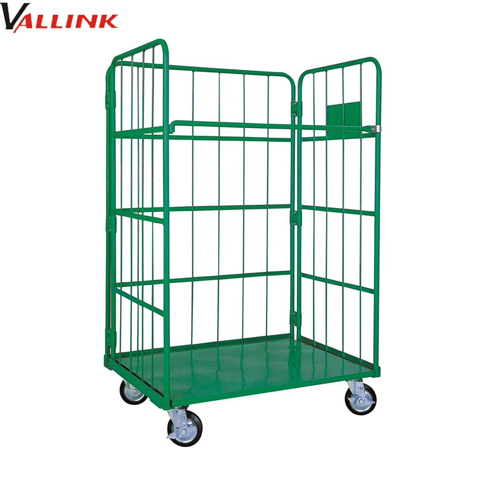 Mobile Wire Mesh Roll Container With 3 Panels - Buy Wire Mesh ...