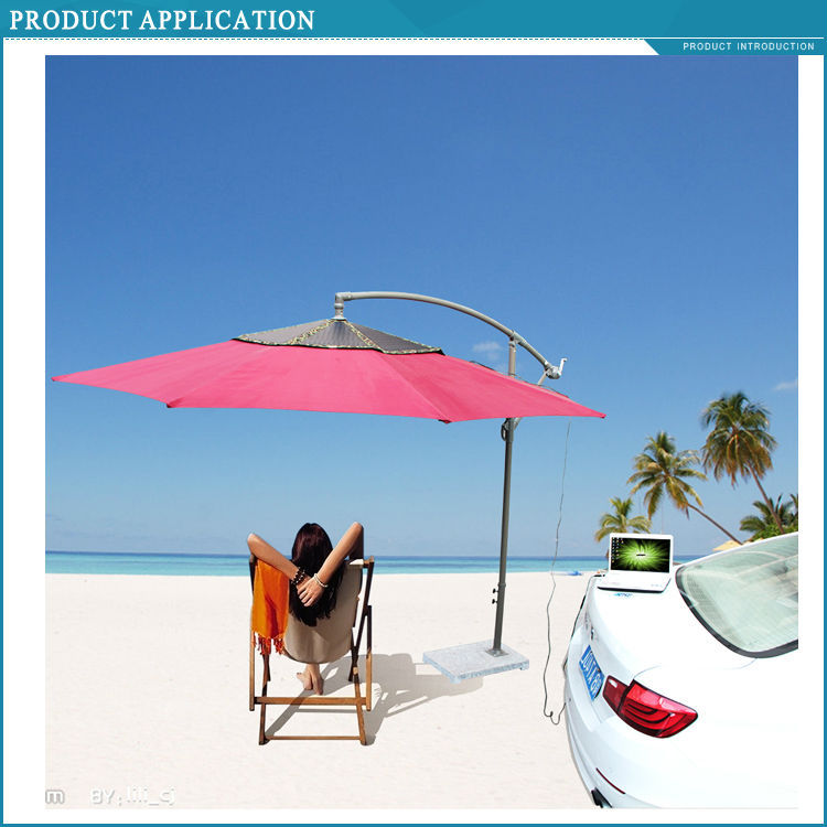 Beach Umbrella 60w Solar Charger Phone Charger For Beach