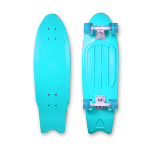 Fish Shape Complete 28 Inch Cruiser Plastic Skateboard with Customized Available