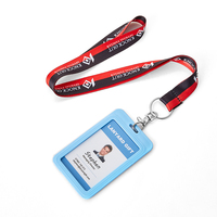 Wholesale Card Holder Lanyard ID Badge Polyester Lanyard with Custom Logo