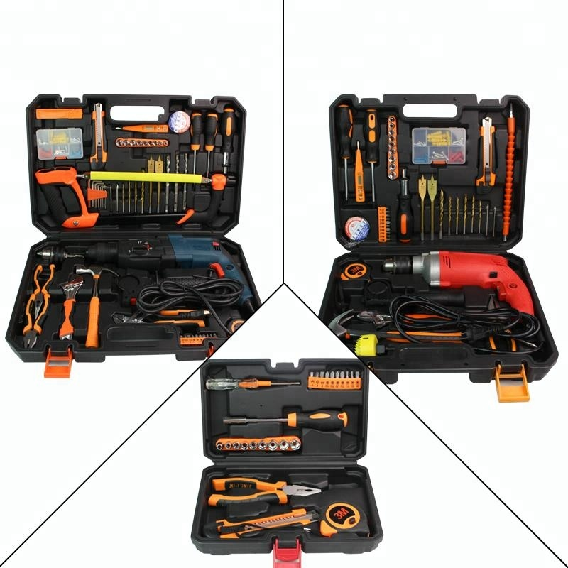 China Supplier 46 Pcs Set Multifunction Equipment Toolbox Household Repair <strong>Tool</strong>