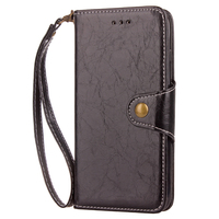 For iPhone X Leather Wallet Case Flip PU Leather Phone Case Belt Closure Vintage Durable Design Leather Case for iPhone 8 Plus