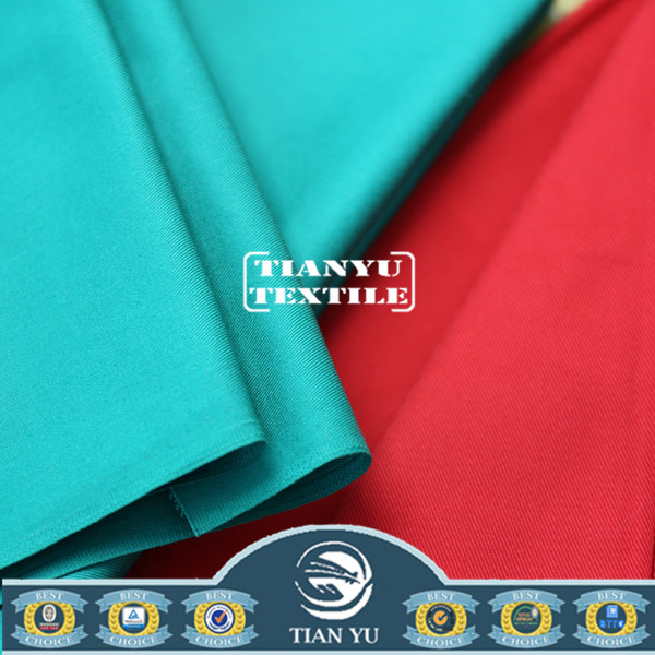 High Quality Elastane Spandex Blend Twill 65/35 Polyester Cotton Fabric