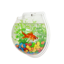 Mini Aquarium Rond Aquarium Bocal à <span class=keywords><strong>Poissons</strong></span> En Acrylique
