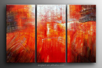 decorative triptych modern oil painting for home, office, coffee, hotel decor