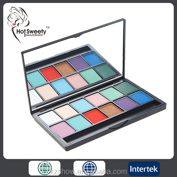 multicolor professional waterproof highlighter powder cosmetics eyeshadow palette private label
