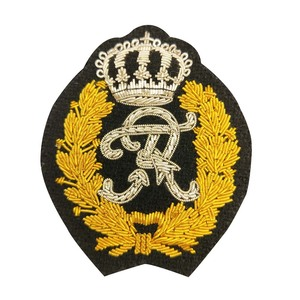 Hand Embroidery Badges Patches Bullion wire badges for uniform