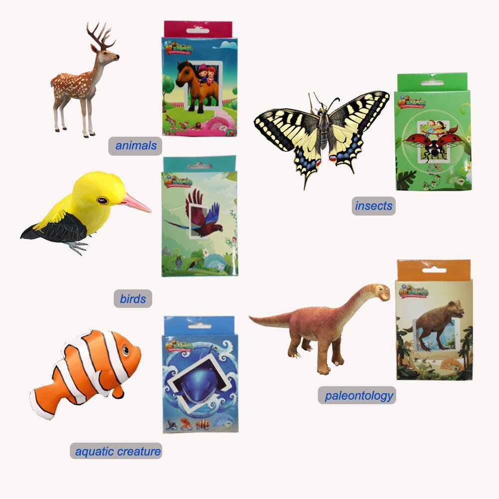 Augmented Reality AR Multi Languages 2018 Intelligence Toys Magic 3D 4D AR Learning Educational learning Cards For Kids