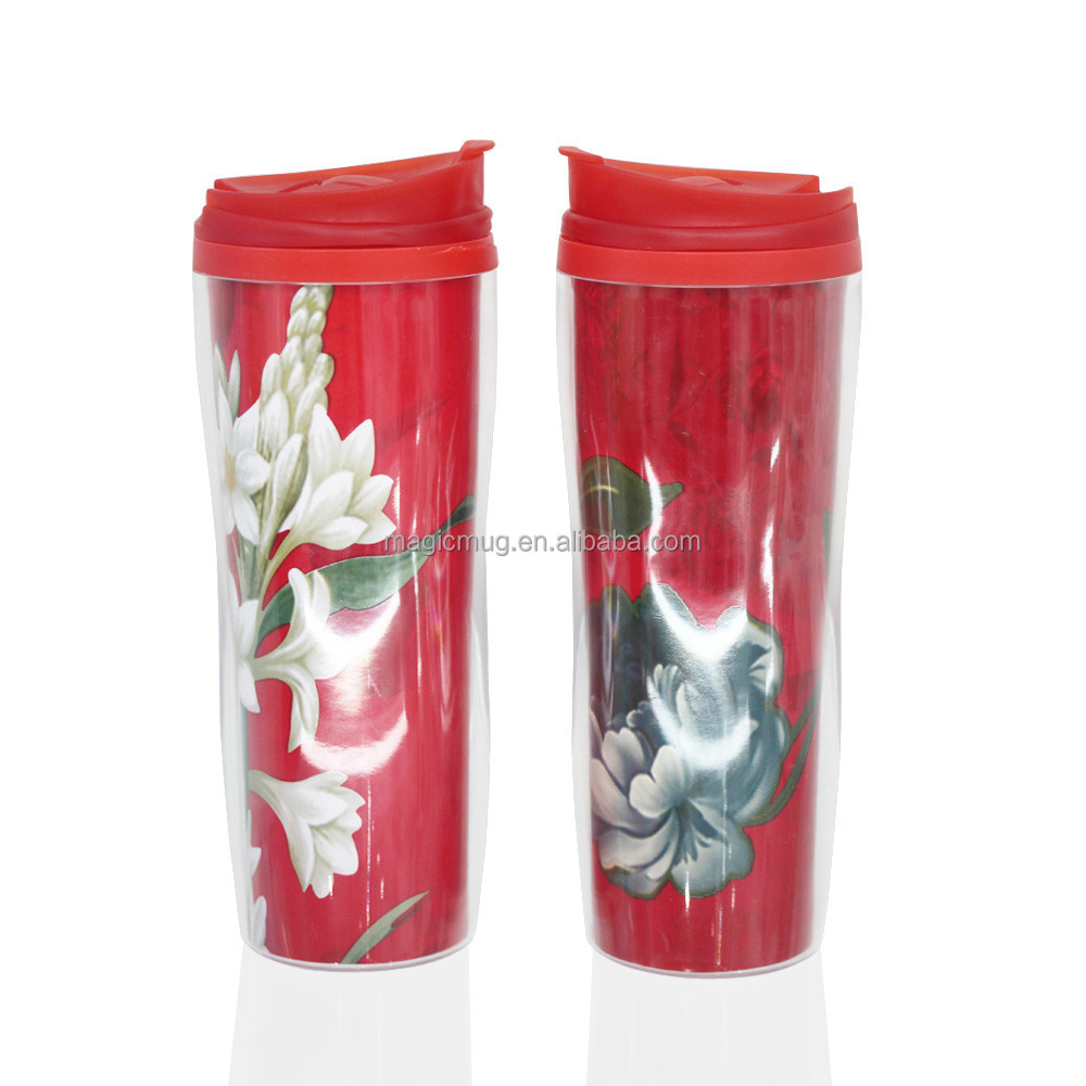 Double Wall Pastic Travel Cup