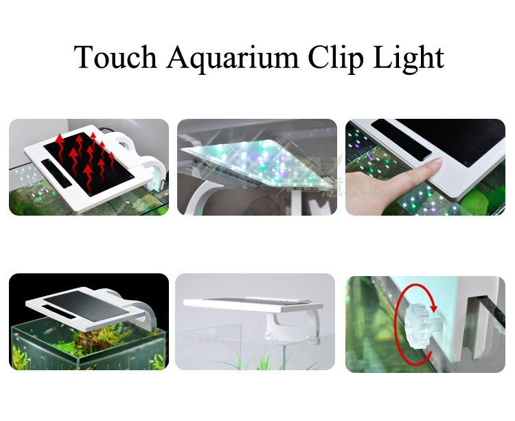 13W Aquarium Fish Tank Clip-on LED Light 36LED Fish Tank Light with 3 Working Modes(Multi Colour)