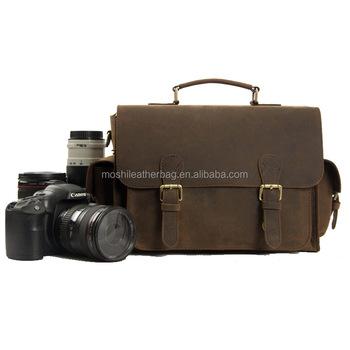 Waterdichte Echt 6919 Dslr Tas Buffel Nikon Buy Voor Custom Insert Gevoerde Vintage vintage Groothandel Camera Sony Lederen Met IEHWD29