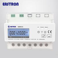 SDM530C 3 Phase 4 Wire Din Rail Smart Digital kWh Electric Energy Postpay Consumption Monitoring Meter with LCD Display