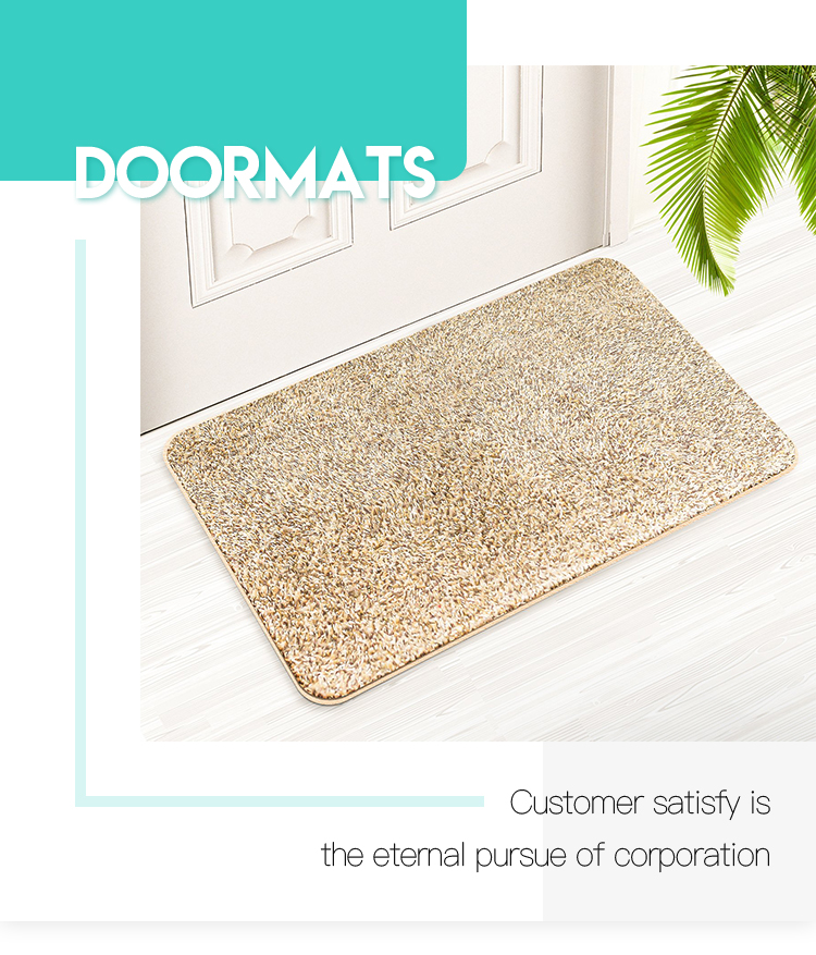 Dirt trapping and water absorbent bathroom rugs non slip