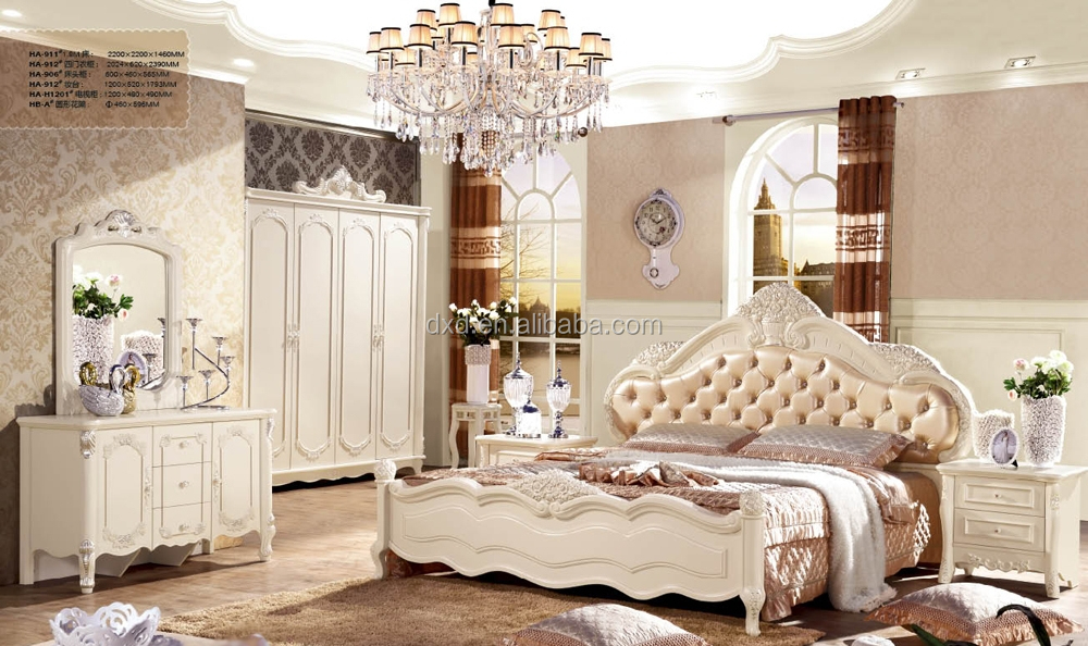 Rococo Style French Bedroom Furniture Wedding Bedroom Furniture ...