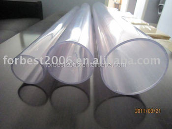 Transparent PVC hard tube with 110mm dia,4mm thickness
