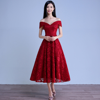 Wish Shopping Online Bridal Bown Sexy Lace Red Short