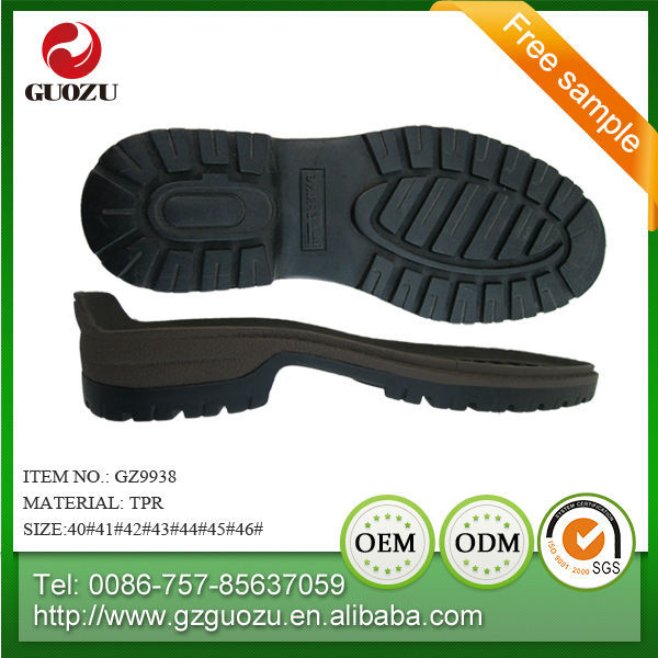 comfortable casual foam high quality tpr outsole