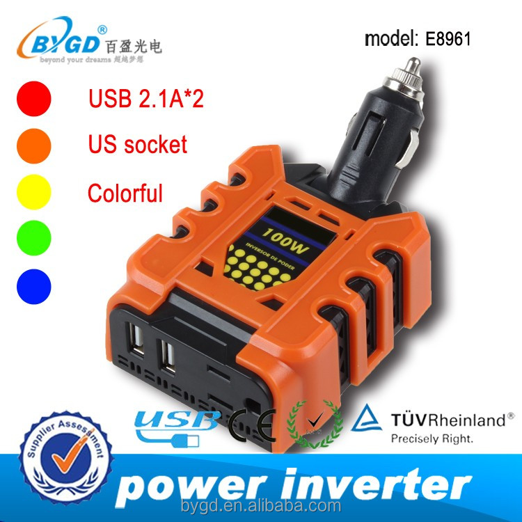 Car power inverter 100w <strong>dc</strong> to ac 12v to 110v power inverter