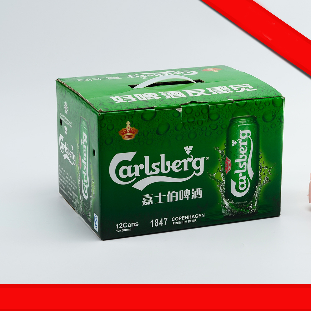 Competitive price hot selling color printing corrugated paper box packaging for beer bottle packaging box