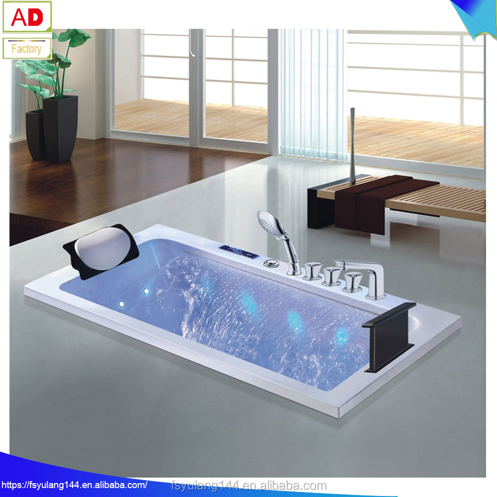 1700mm/67inch Length Rectangle Acrylic Massage Bathtub With ...