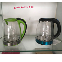 longji glass electric glass tea top #304 stainless steel electric 1.8L water jug Water boil water glass kettle RUSSIA KETTLE