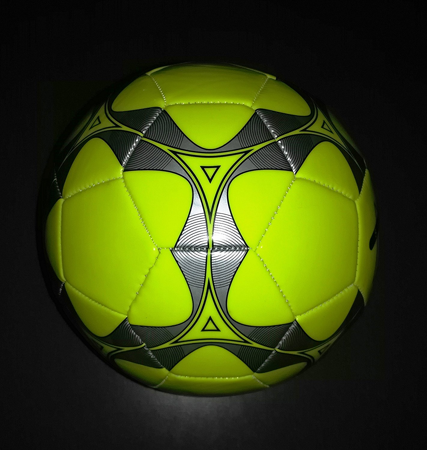 Official Low Bounce Futsal Ball Yellow Silver Size 4