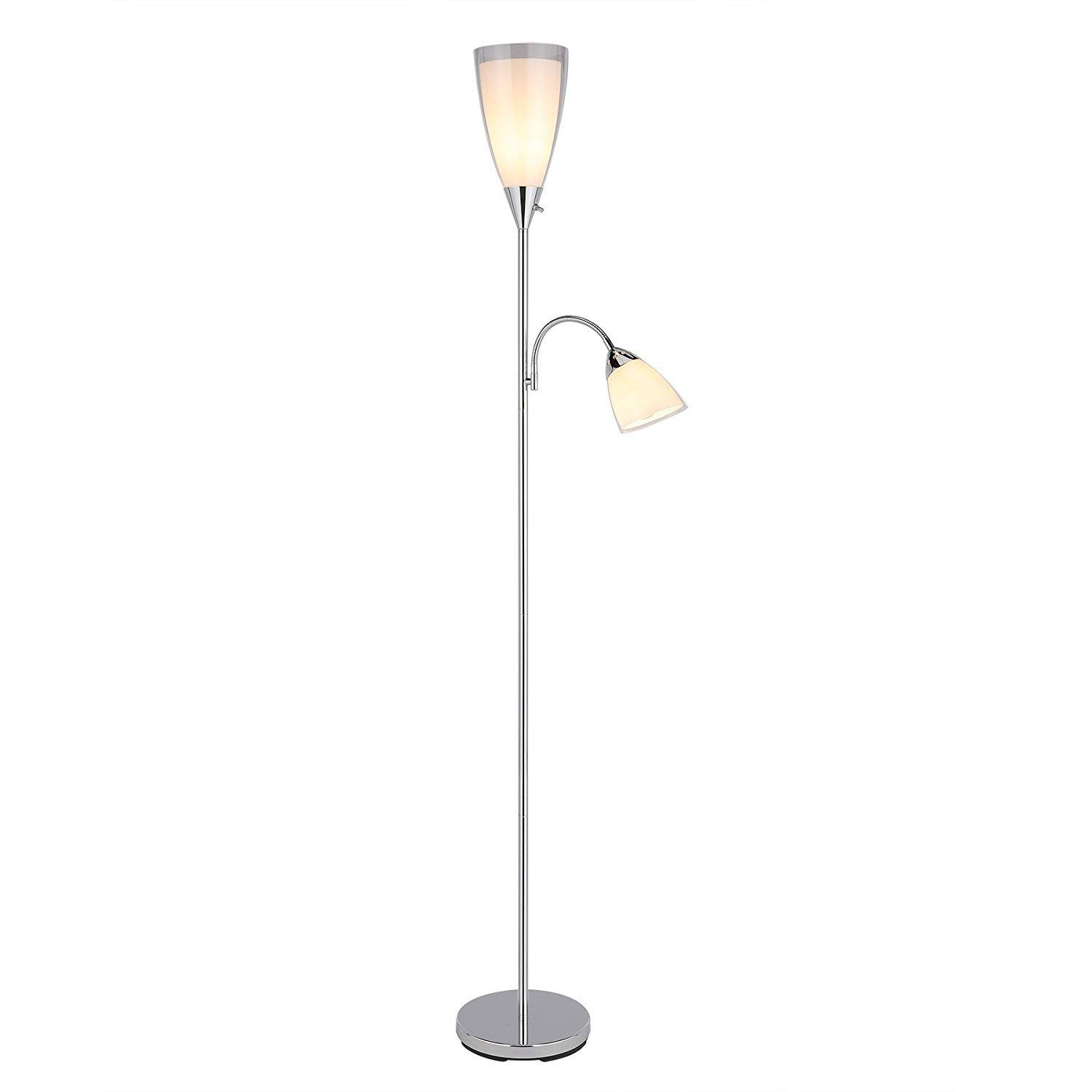 Cheap Torchiere Reading Lamp Find Deals On 3 Way Switch Floor Get Quotations Combo With Side Light Chrome Multi Standing