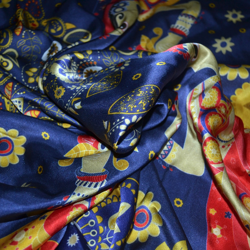 printed fabric/textile digital print silk for scarf dress kerchief