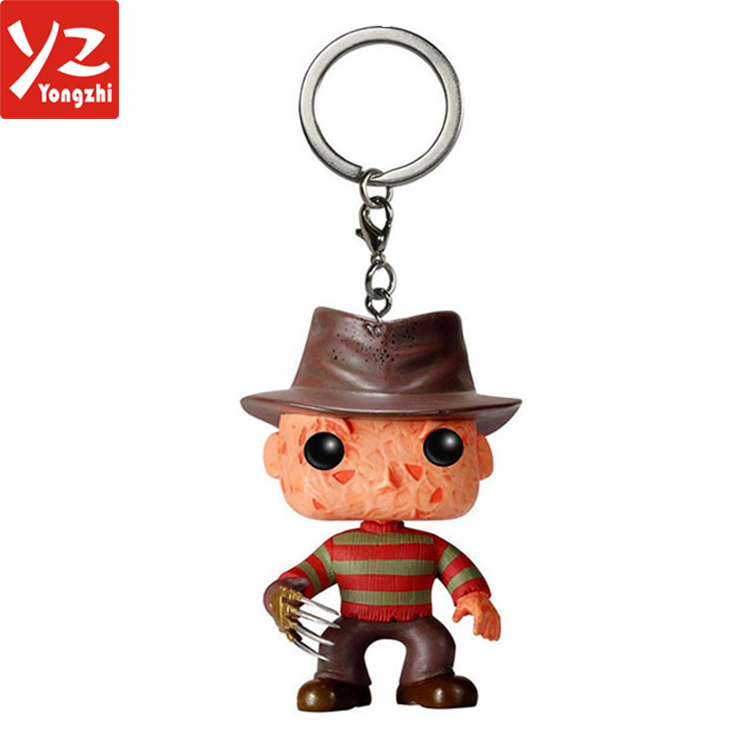 Marvel Funko Pop Action Figure Keychain / Super Hero Cartoon Toys Anime Keychain