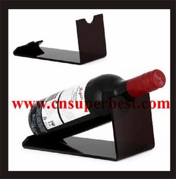 Customized Single Acrylic Wine Bottle Display Stand