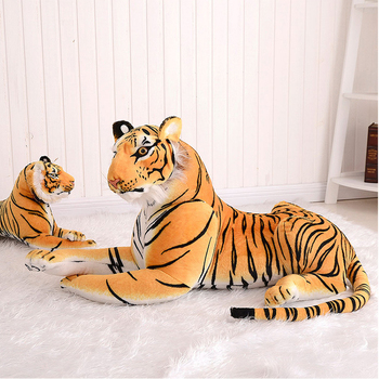 Low minimum order quantity different size emulational brown stuffed plush tiger