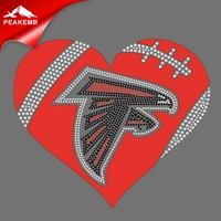 Hot Sale Crystal Keep Calm And Go Falcons Iron On Transfers Custom Design
