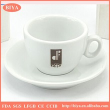 coffee cup plate set wholesale italy ceramics white fine porcelain espresso coffee cup and saucer and dish,accept custom logo
