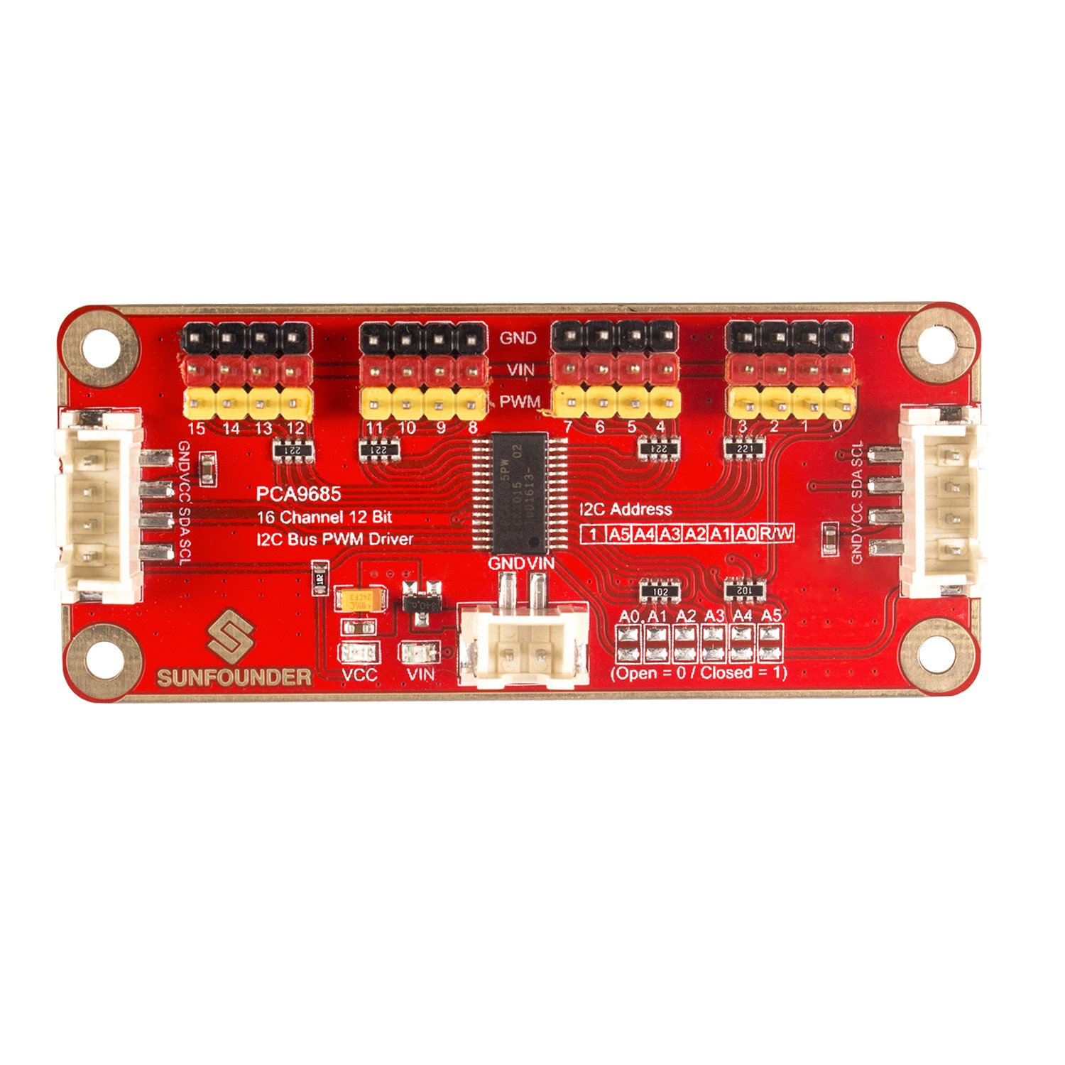 Cheap I2c Led Driver Find Deals On Line At Alibabacom Driving A Strip With Arduino Also Pwm Electronics Get Quotations Sunfounder 16 Channel 12 Bit Pca9685 Servo Shield For And Raspberry Pi