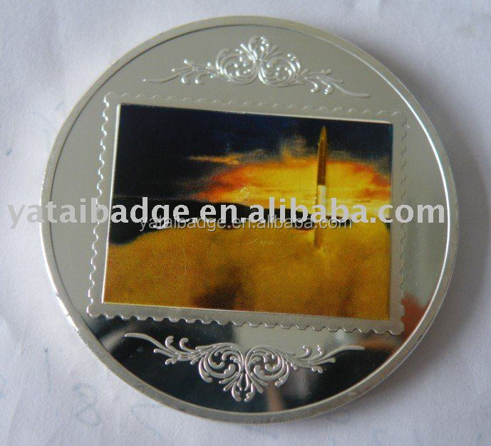 souvenir paint coin silver plating coin customize style