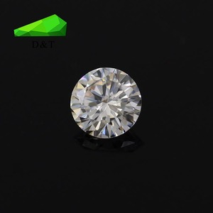 Factory sell directly round shape 5mm white cubic zirconia from wuzhou city