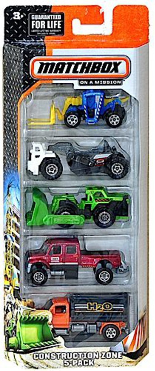 Matchbox, 2015 On A Mission Construction Zone 5-Pack