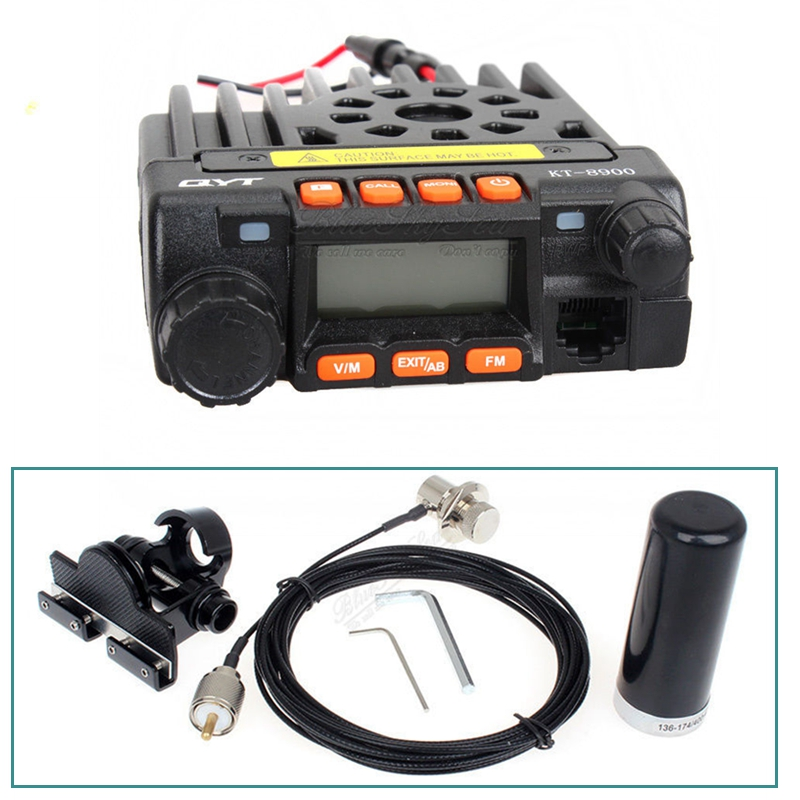 china supplier 2016 QYT KT-8900 Dual Band Radio Transceiver+HH-N2RS Antenna+Mount+16FT Cable