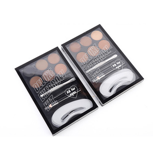 OEM wholesale custom label cosmetic eyebrow powder 6 colors set waterproof long lasting natural eyebrow