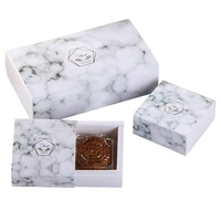 White marble pastry box/biscuit cookie/dessert box packaging